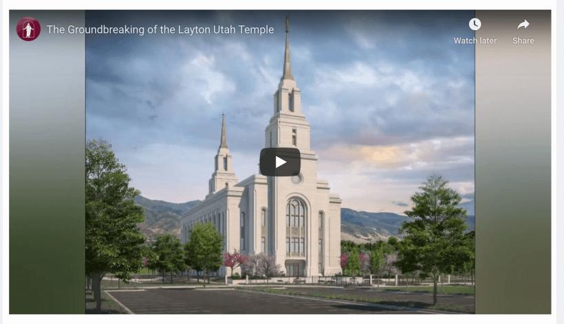 The Groundbreaking of the Layton Utah Temple
