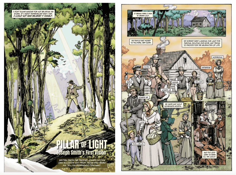 Pillar of Light: New Graphic Novel Adaptation of Joseph Smith's First Vision Celebrates Bicentennial #HearHim
