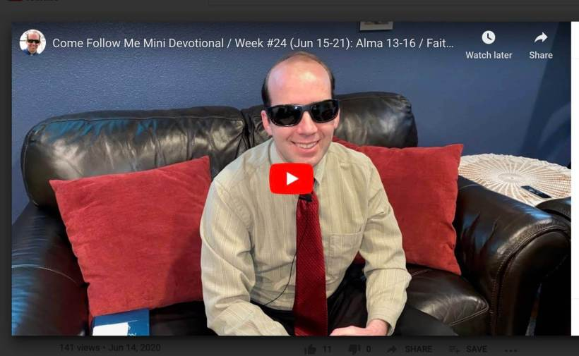 VIDEO: Adam Rushforth #ComeFollowMe lesson aids — blind member creates video to help people understand the curriculum