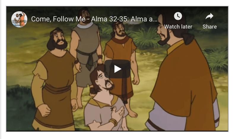 #Book #Testimony #Faith Come, Follow Me - Alma 32-35: Alma and the Zoramites clip