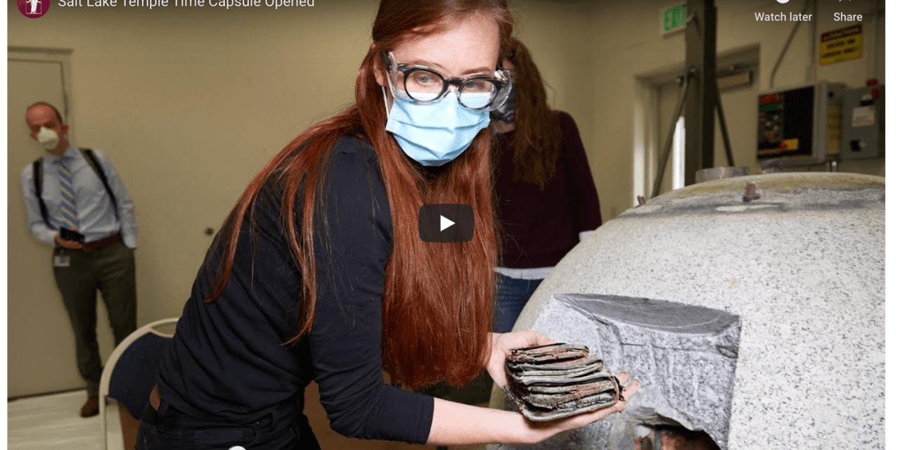 VIDEO: Salt Lake Temple Time Capsule Opened