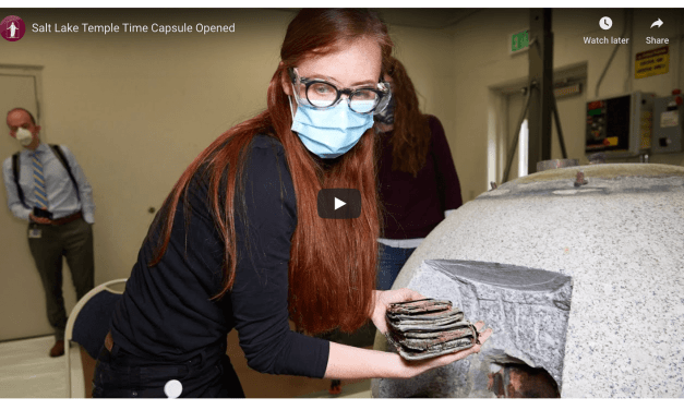 VIDEO: Salt Lake Temple Time Capsule Opened