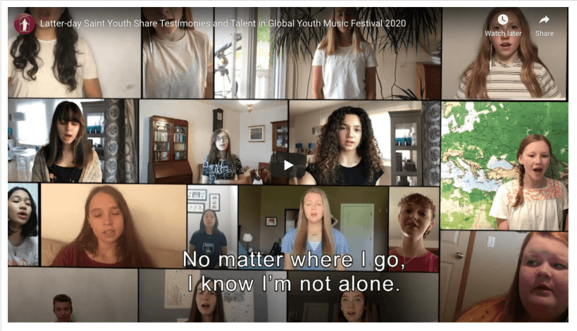 VIDEO: Latter-day Saint Youth Share Testimonies and Talent in Global Youth Music Festival 2020