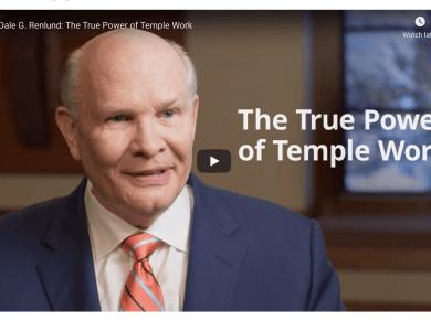 Video: Elder Dale G. Renlund: The True Power of Temple Work