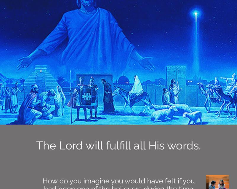 #ComeFollowMenugget — 3 Nephi 1-7 One thing is sure—the Lord will fulfill all His words