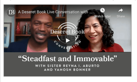 VIDEO: Deseret Book Live — Sister Reyna I. Aburto, Second Counselor in the General Relief Society Presidency, talks with Yahosh Bonner about how the hard things in our lives can create a firm foundation in Christ