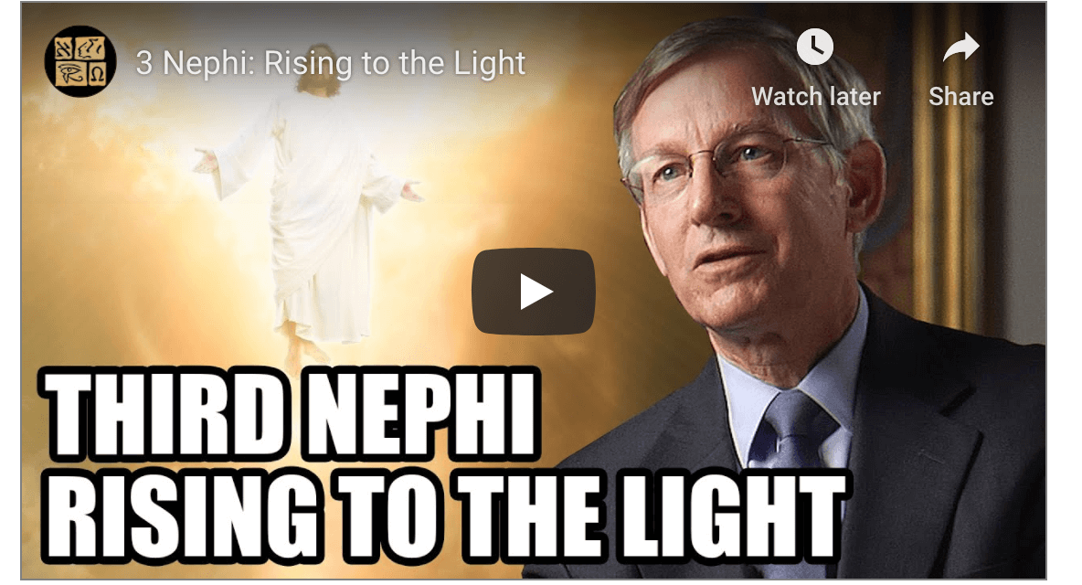 VIDEO: BOOK OF MORMON CENTRAL COME FOLLOW ME 3 NEPHI #COMEFOLLOWME WITH JOHN WELCH, TAYLOR, AND TYLER