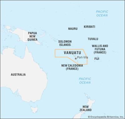 World data locator map vanuatu