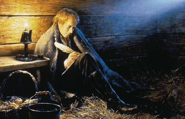 Joseph smith sitting jail writing
