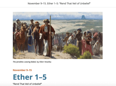 "VIDEO: #ComeFollowMe with Mormon News Report | Ether 1–5: ""Rend That Veil of Unbelief"""
