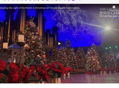 VIDEO: Celebrating the Light of the World: A Christmas on Temple Square Performance | #LightTheWorld