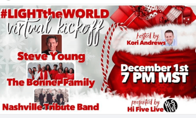VIDEO: Hi 5 Live #LIGHTtheWORLD VIRTUAL KICKOFF with Steve Young, The Bonner Family, Nashville Tribute Band and host Brother Kori Andrews