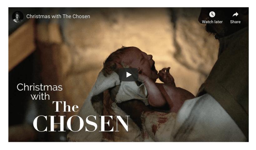 VIDEO: Christmas with The Chosen | #BingeJesus | #GetUsedToDifferent | #LightTheWorld