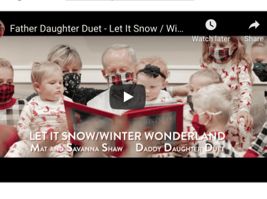 Father Daughter Duet - Let It Snow / Winter Wonderland - Mat and Savanna Shaw