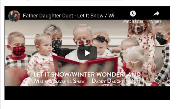 VIDEO: Father Daughter Christmas Duet – Let It Snow / Winter Wonderland – Mat and Savanna Shaw