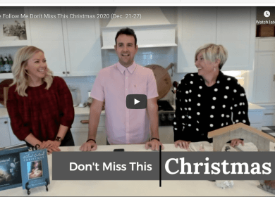 VIDEO: DON'T MISS THIS COME FOLLOW ME (Christmas 2020 (Dec. 21-27) WITH EMILY FREEMAN AND DAVID BUTLER | #COMEFOLLOWME