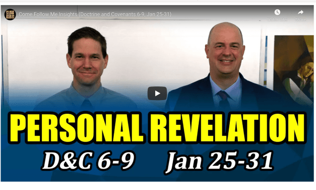 VIDEO: Come Follow Me Insights with Taylor and Tyler (Doctrine and Covenants 6-9, Jan 25-31) | #ComeFollowMe | Book fo Mormon Central