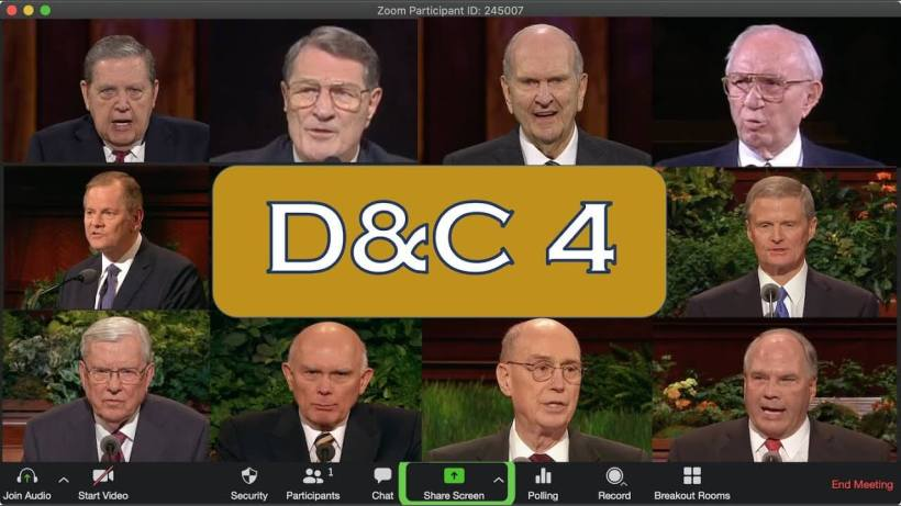 EPIC: LDS Prophets and Apostles Throw Down Doctrine and Covenants 4