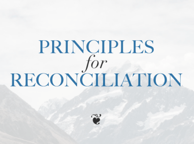 Principles for Reconciliation provides thoughts on how gay Latter-day Saints might reconcile their faith with their feelings