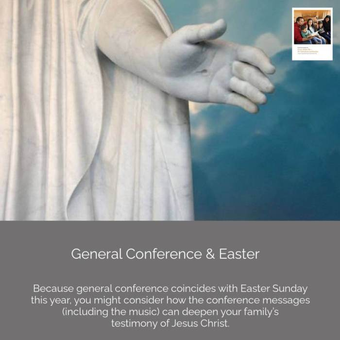 **#ComeFollowMe nugget**   𝙶𝚎𝚗𝚎𝚛𝚊𝚕 𝙲𝚘𝚗𝚏𝚎𝚛𝚎𝚗𝚌𝚎 Because general conference coincides with Easter Sunday this year, you might consider how the conference messages (including the music) can deepen your family's testimony of Jesus Christ.    Join our Come, Follow Me Facebook group! https://www.facebook.com/groups/comefollowmelds   More at http://www.ComeFollowMeStudyHelps.com   📸: IRI