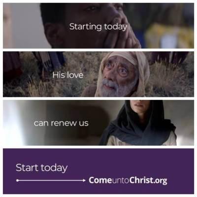 #StartingToday #ComeUntoChrist Easter 2021 Mormon LDS Saint