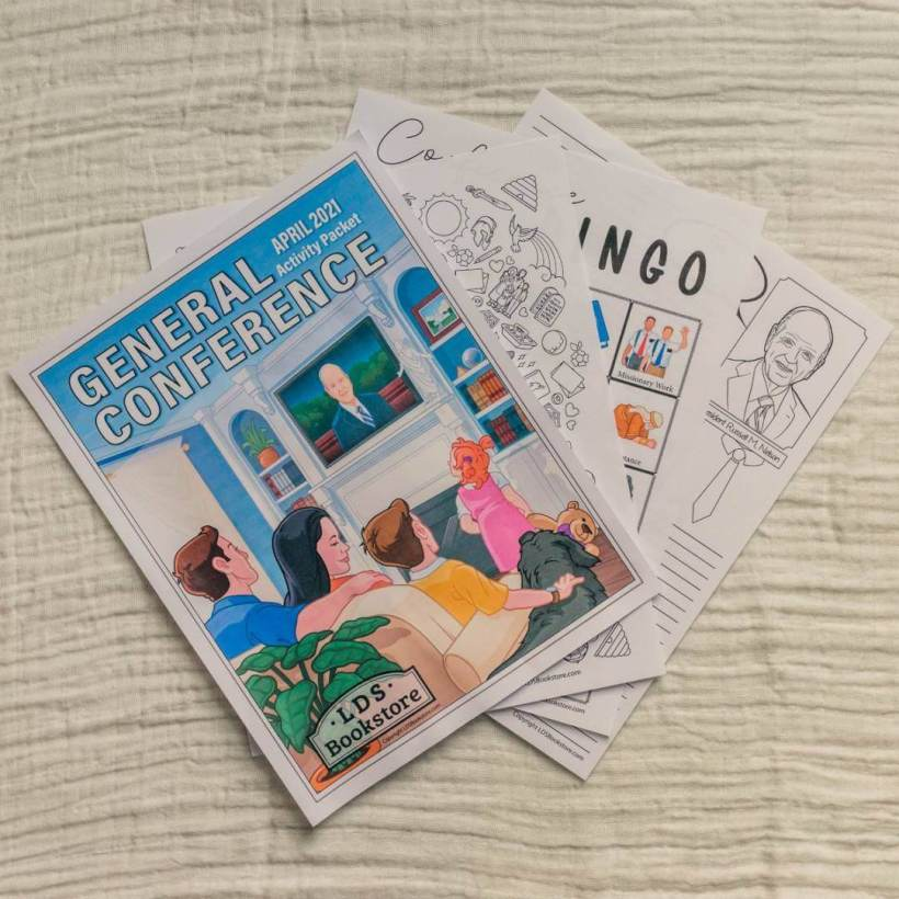 FREE Download | #GeneralConference Activity Packet from LDS Daily / LDS Bookstore