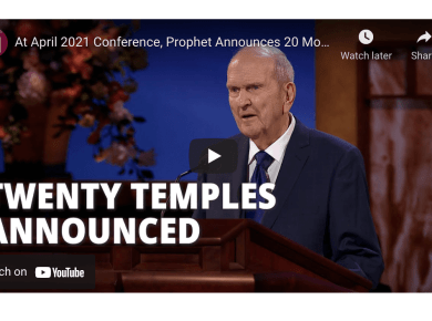 At April 2021 Conference, Prophet Announces 20 More Temples to Be Constructed