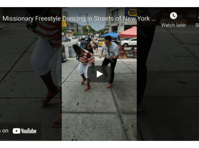 Missionary Freestyle Dancing in Streets of New York City Builds Connections with God-Given Talents