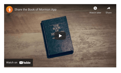 VIDEO: Share the Book of Mormon App