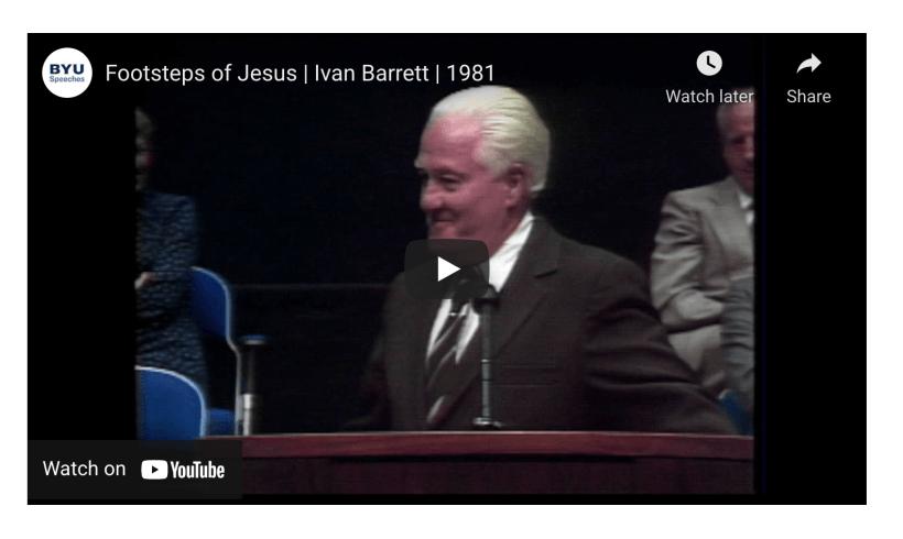 VIDEO: Footsteps of Jesus | Ivan Barrett | 1981