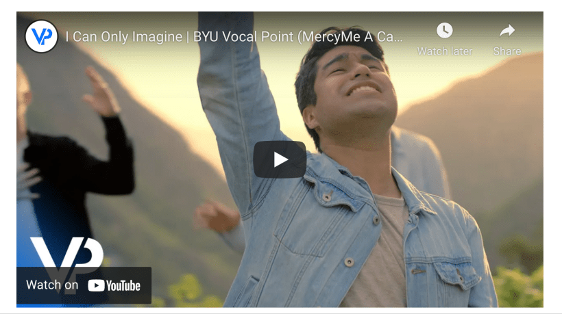 I Can Only Imagine | BYU Vocal Point (MercyMe A Cappella Cover)