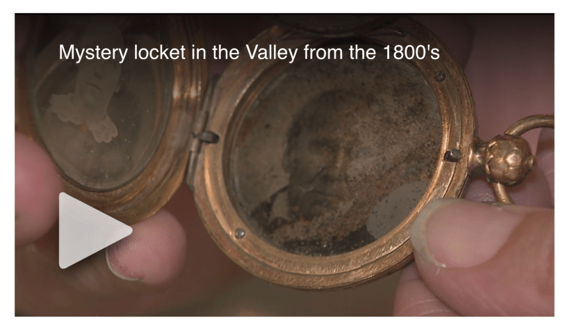 PHOENIX - Sarah Bingham, co-owner of Antique Sugar in Phoenix, has a locket believed to be from the 1800s, with a photo resembling Brigham Young, the second President of the Church of Jesus Christ of Latter-day Saints.
