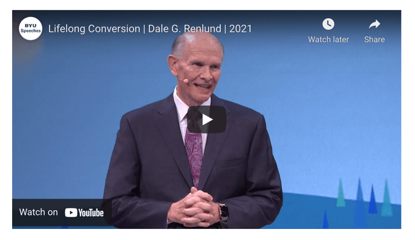 Dale G. Renlund explains that lifelong conversion comes through determination to repeat the elements of the doctrine of Christ (BYU Speeches)