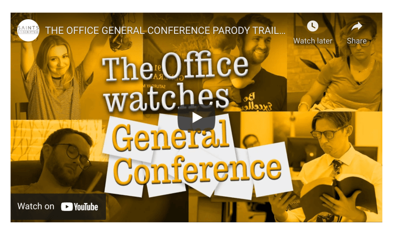 THE OFFICE GENERAL CONFERENCE PARODY TRAILER (Saints Unscripted)