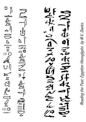 Escritura hierática egipcia