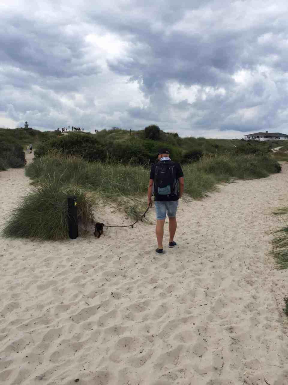 På cykeltur til Grenen med Skibshunden i rygsækken - og mødet med en kæmpe!