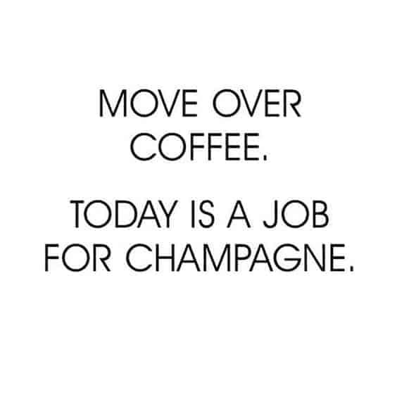 Dagen efter søndag - champagne dag!