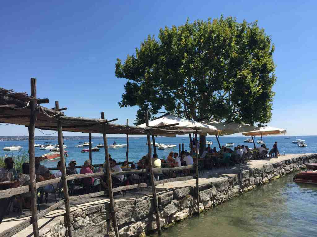 Frokost i Punta di San Vigilio - cool oplevelse