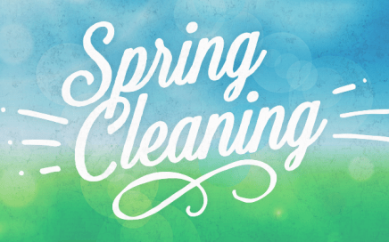 """""""spring cleaning"""" graphic"""