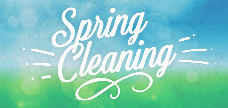 """spring cleaning"" graphic"