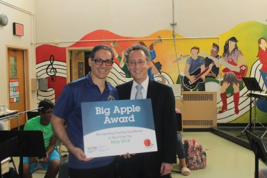 Congratulations to Alberto Toro of I.S. 007 in Staten Island on Winning a 2018 Big Apple Award