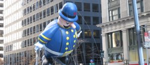 Thanksgiving Day Parade Float of an NYC Police Officer
