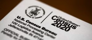 Close-up of US Census 2020 Envelope