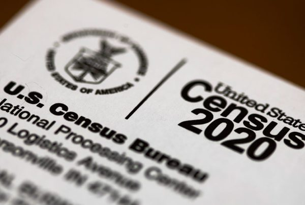 Close-up of US Census 2020 Envelope
