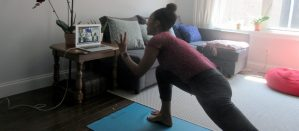 Angelica Cassimiro Teaching an Online Physical Education Class