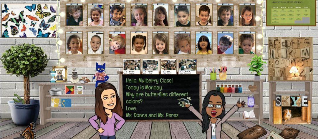 "A screenshot of Donna Griebel's Virtual ""Mulberry"" Classroom"