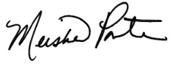 Chancellor Meisha Porter's signature