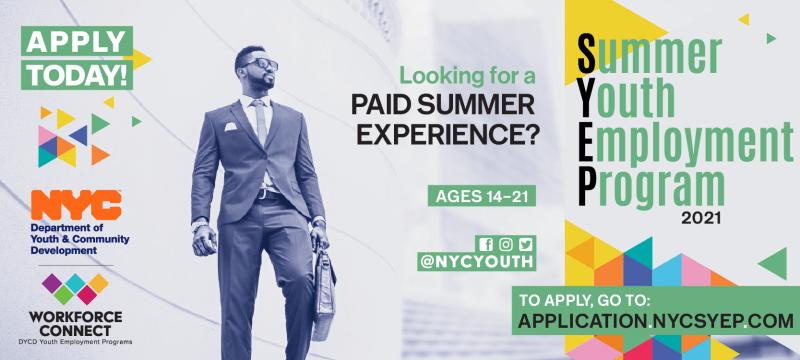 Summer Youth Employment Program Flyer