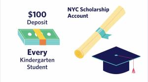 Screenshot from NYC Kids RISE Scholarship video