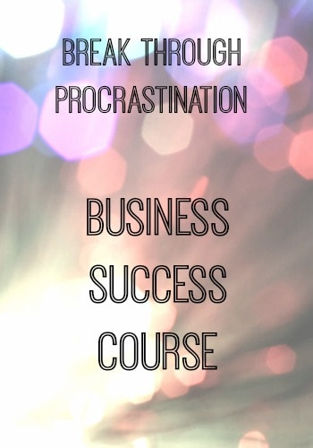 Business success course.  Use effective goal setting to avoid procrastination.